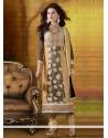 Eyeful Black And Cream Georgette Churidar Salwar Suit