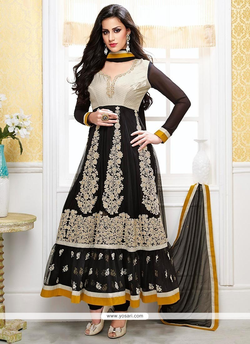 Genius Black Net Designer Anarkali Suits