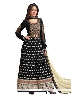 Fab Black Georgette Anarkali Salwar Kameez