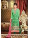 Eyeful Green Embroidery Churidar Salwar Kameez