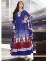 Markable Blue Cotton Anarkali Salwar Suit