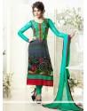 Multicolor Georgette Churidar Salwar Suit