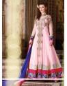 Glorious Pink Georgette Anarkali Salwar Suit