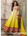 Competent Yellow Georgette Anarkali Salwar Kameez