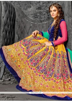 Charming Yellow A Line Lehenga Choli