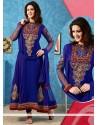 Royal Blue Embroidery Anarkali Salwar Suit