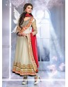 Off White Georgette Designer Anarkali Suits