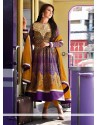 Radiant Purple Resham Anarkali Salwar Suit