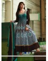 Natural Green Cotton Anarkali Salwar Kameez