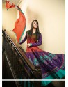Lustrous Purple Cotton Anarkali Salwar Suit