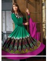 Gorgeous Green Resham Anarkali Suits
