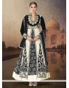 Black And White Velvet Designer Anarkali Suits