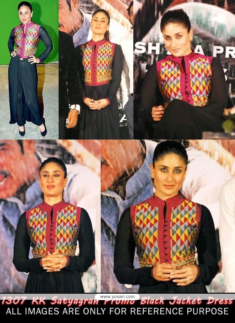Kareena Kapoor Black Jacket Styles Salwar Kameez