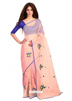 Transcendent Cotton Lace Work Casual Saree