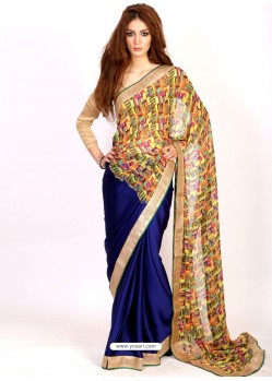 Sterling Blue Casual Saree