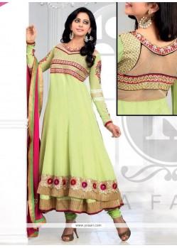 Modern Green Georgette Anarkali Suit