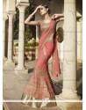 Magnificent Georgette Pink A Line Lehenga Choli
