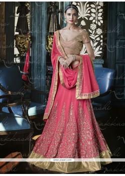 Classical Georgette Hot Pink A Line Lehenga Choli