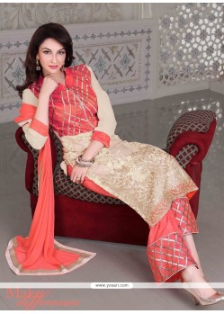 Invigorating Resham Work Georgette Designer Palazzo Salwar Suit