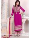 Dazzling Georgette Embroidered Work Designer Palazzo Salwar Suit