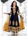 Mesmeric Black Zari Designer Anarkali Suit