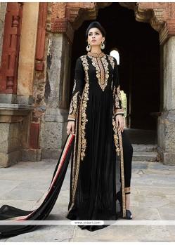 Festal Georgette Black Embroidered Work Designer Salwar Suit