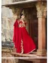 Bedazzling Red Georgette Designer Salwar Suit