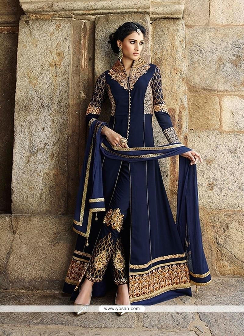 Entrancing Blue Designer Salwar Suit