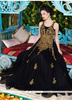 Aesthetic Net Floor Length Anarkali Suit
