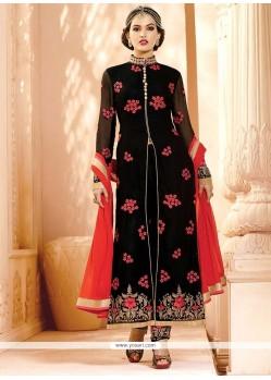 Winsome Georgette Zari Work Designer Straight Salwar Kameez