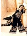Divine Black Georgette Designer Salwar Kameez