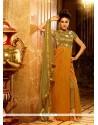 Irresistible Resham Work Silk Mustard Designer Salwar Kameez