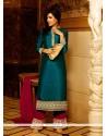 Ruritanian Patch Border Work Designer Palazzo Salwar Suit