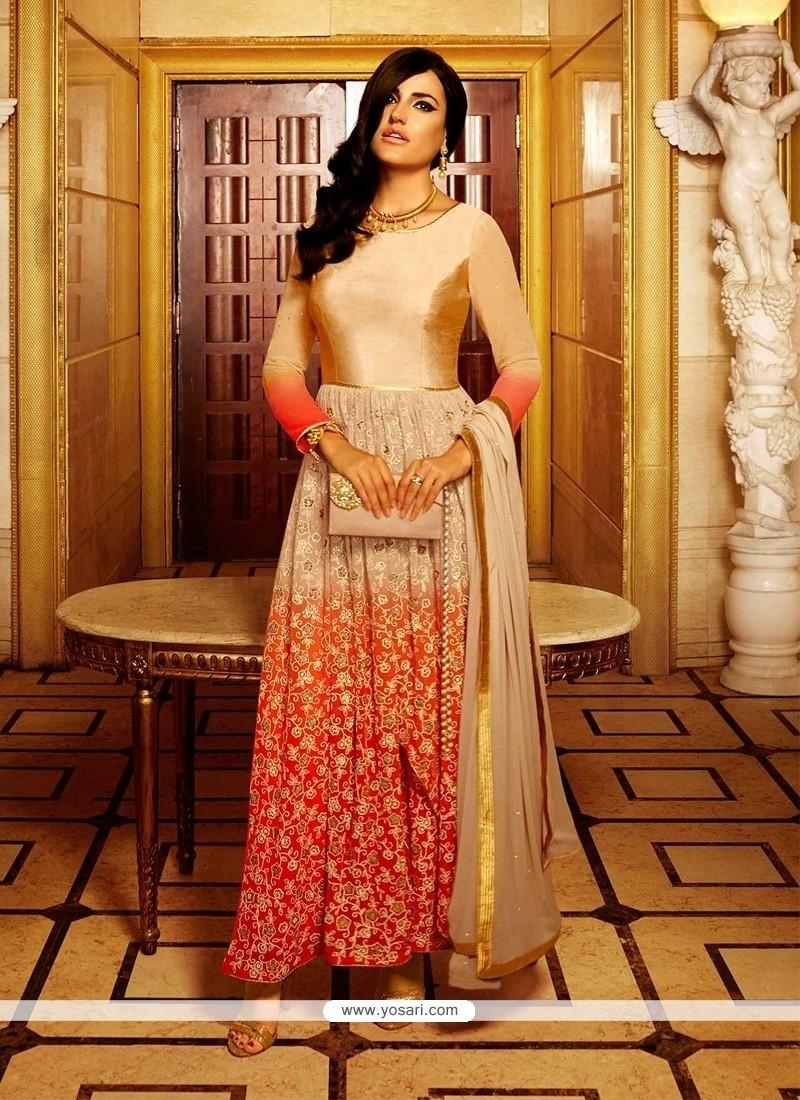 Gorgonize Embroidered Work Georgette Anarkali Salwar Suit