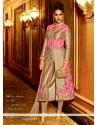 Charming Resham Work Pink Silk Designer Salwar Kameez