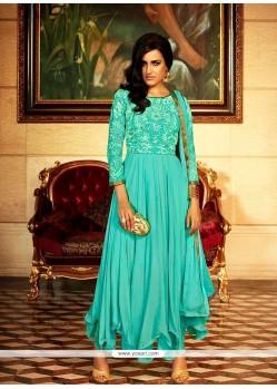 Impressive Georgette Resham Work Anarkali Salwar Kameez