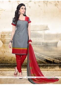 Observable Print Work Churidar Designer Suit