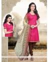 Charming Lace Work Cotton Churidar Designer Suit