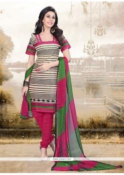Opulent Print Work Churidar Designer Suit