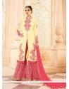 Extraordinary Cream Georgette Designer Palazzo Suit
