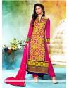 Magenta Resham Pakistani Salwar Suit
