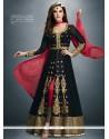 Fabulous Georgette Black Designer Salwar Suit
