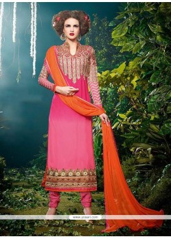 Intriguing Zari Work Designer Straight Salwar Kameez