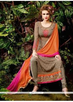 Exceeding Lace Work Designer Straight Salwar Kameez