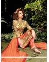 Congenial Georgette Beige Designer Straight Salwar Suit
