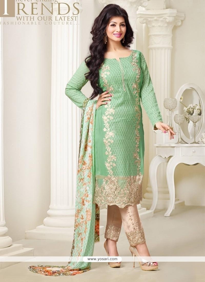 Ayesha Takia Georgette Designer Straight Salwar Kameez