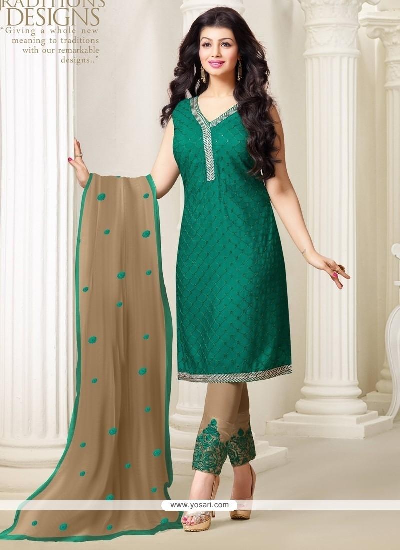 Ayesha Takia Embroidered Work Designer Straight Salwar Kameez