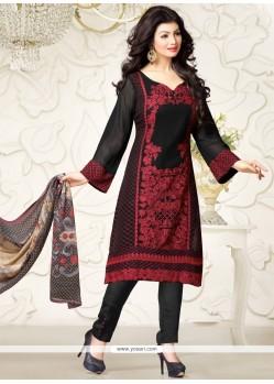 Ayesha Takia Georgette Embroidered Work Designer Straight Salwar Suit
