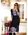 Amazing Black Viscose Churidar Salwar Suit