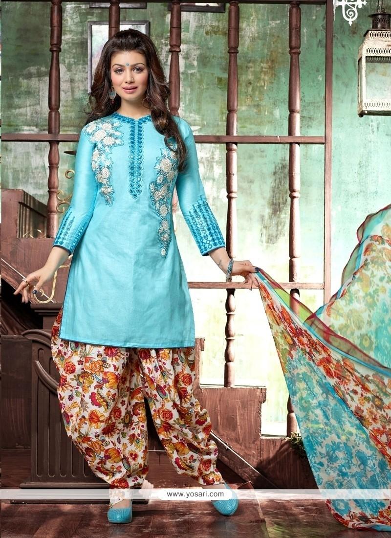 Ethnic Cotton Designer Patiala Suit
